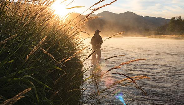 fisherman in the river